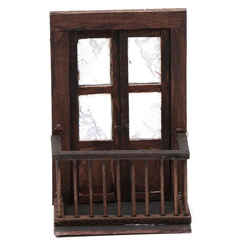 Puerta con balcón 13x7x8 cm pesebre napolitano 1