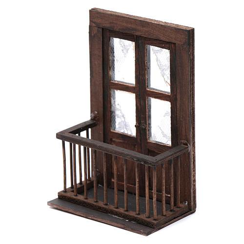 Puerta con balcón 13x7x8 cm pesebre napolitano 2