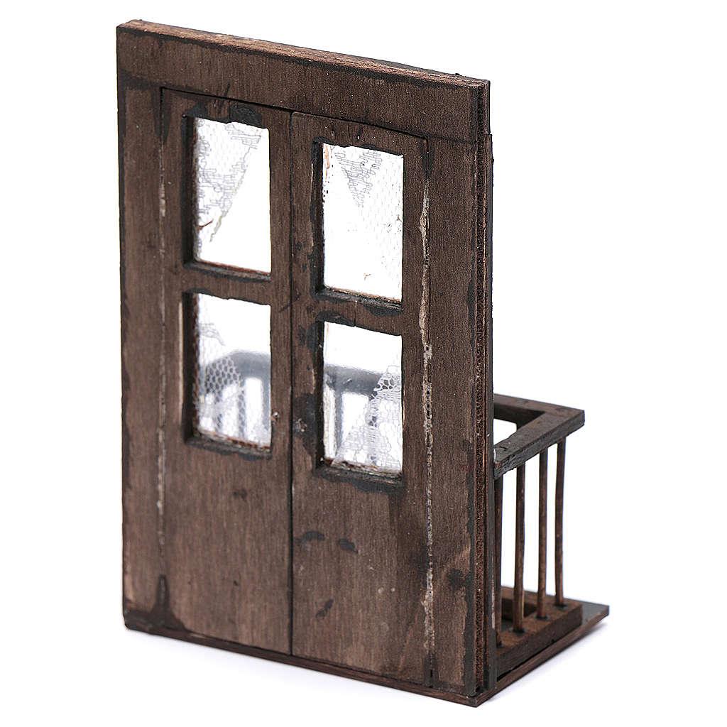 Balcone con porta 13x7x8 cm presepe napoletano 4