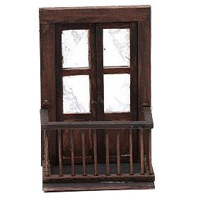 Balcone con porta 13x7x8 cm presepe napoletano s1