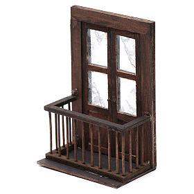 Balcone con porta 13x7x8 cm presepe napoletano s2
