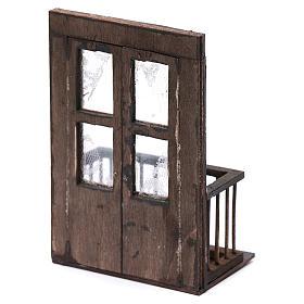 Balcone con porta 13x7x8 cm presepe napoletano s3