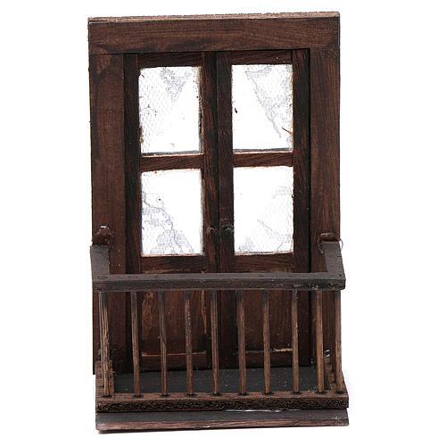 Balcone con porta 13x7x8 cm presepe napoletano 1