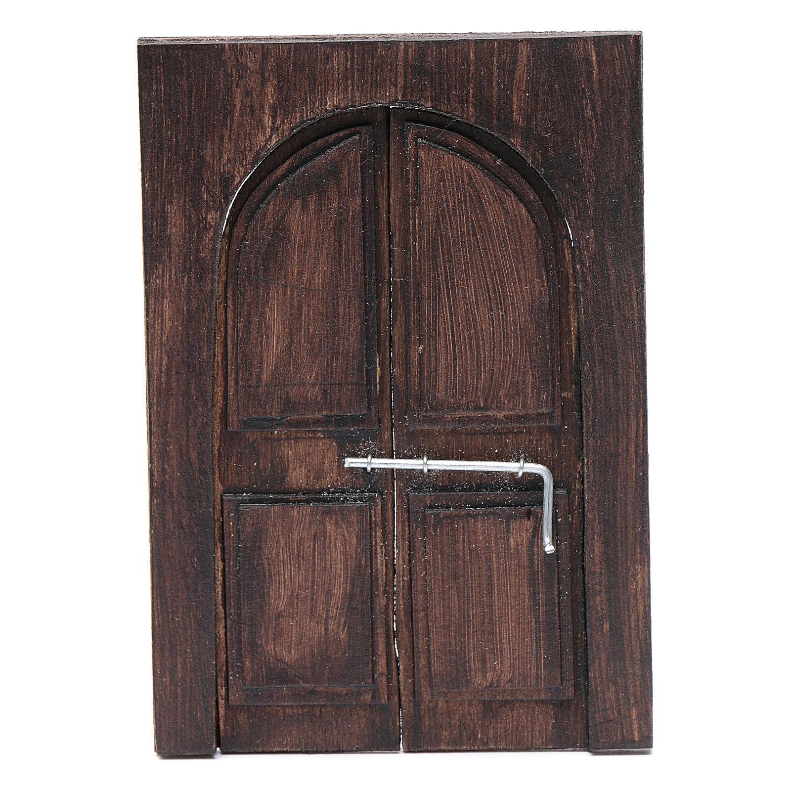 Porte en miniature crèche Napolitaine 11,5x8 cm 4