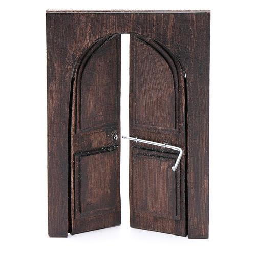 Porte en miniature crèche Napolitaine 11,5x8 cm 2