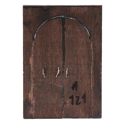 Porte en miniature crèche Napolitaine 11,5x8 cm 3