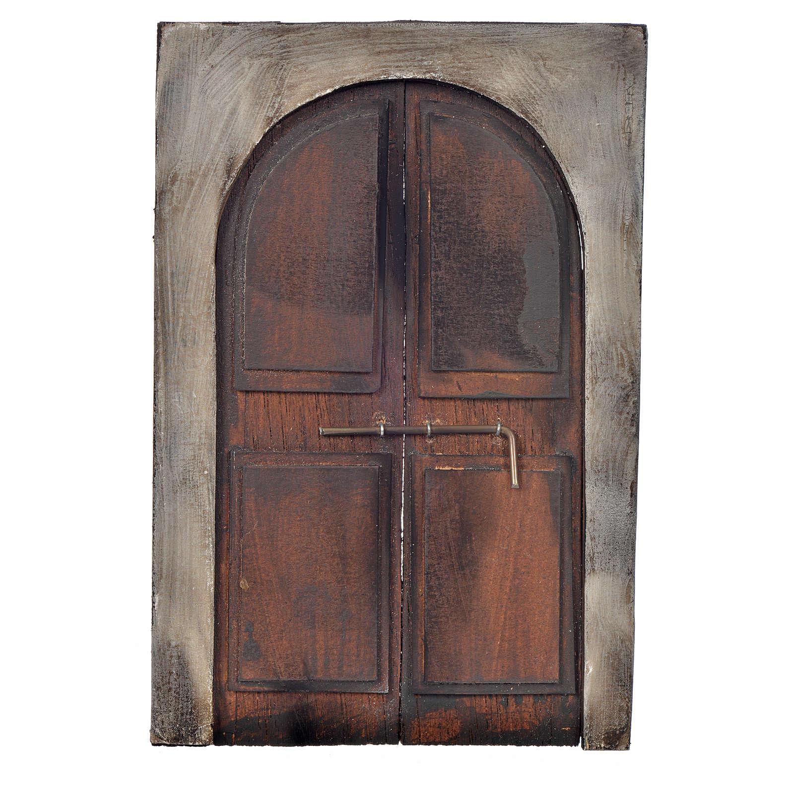 Portón de 13,5x9 cm pesebre napolitano 4