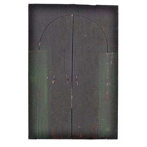 Portón de 13,5x9 cm pesebre napolitano 2