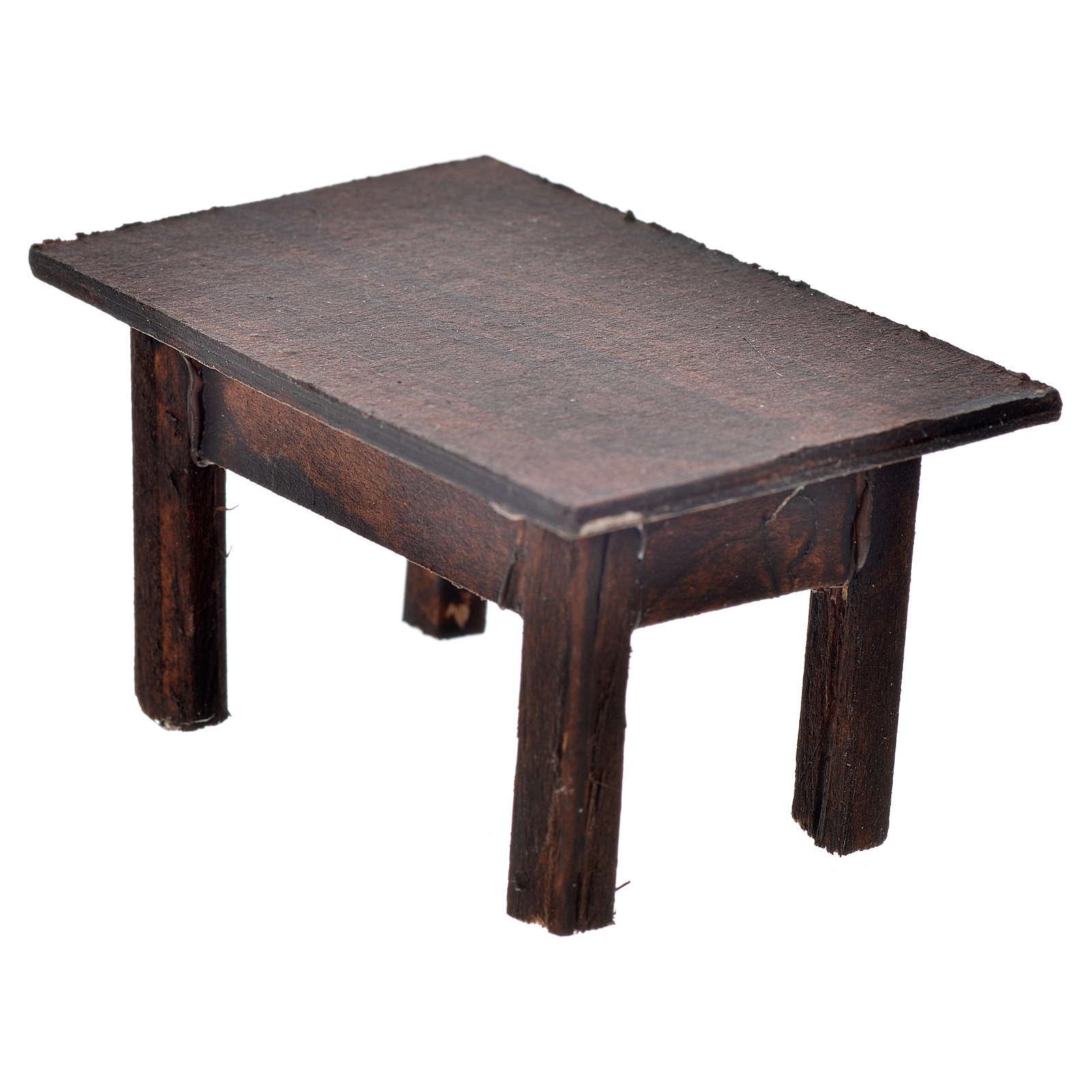 Tavolo 3,5x7,5x4 cm presepe napoletano 4