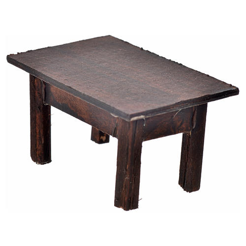 Tavolo 3,5x7,5x4 cm presepe napoletano 1