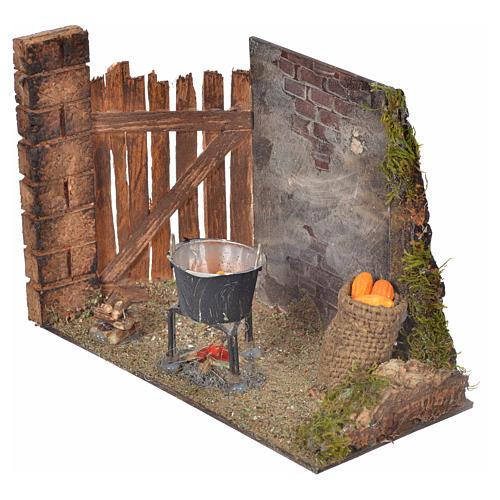 Milieu épis de mais et casserole 10,5x15x8 crèche Napolitaine 2