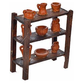 Scaffale vasame terracotta presepe napoletano 7x6x3 cm s2