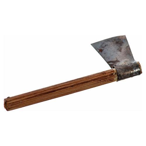 Neapolitan Nativity scene accessory, axe, 4 cm 2