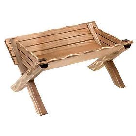 Presépio Val Gardena: Berço de madeira para imagem Menino Jesus
