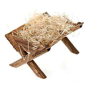 Berço de madeira para imagem Menino Jesus s3