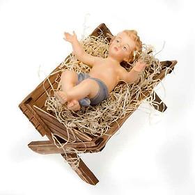 Berço de madeira para imagem Menino Jesus s4