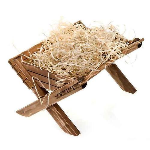 Berço de madeira para imagem Menino Jesus 3