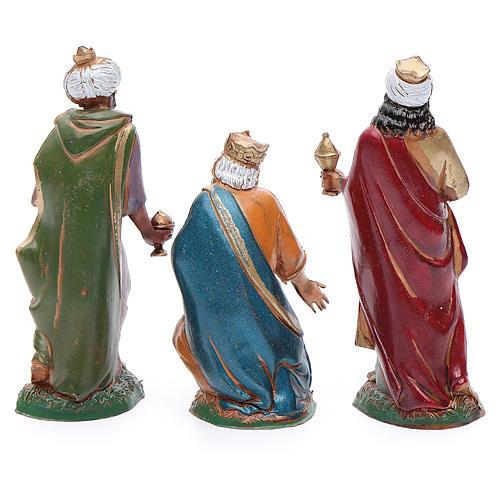 Nativity figurines, 3 Wise Men 10cm Moranduzzo in hand painted plastic 3