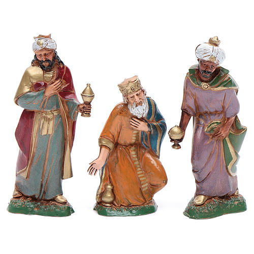 Reys Magos Moranduzzo 10 cm. plástica pintada a mano. 1