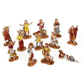 Pastori presepe gruppo 12 soggetti 3.5 cm Moranduzzo s1