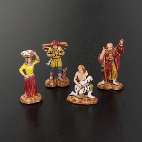 Pastori presepe gruppo 12 soggetti 3.5 cm Moranduzzo s3