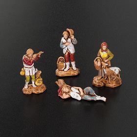 Pastori presepe gruppo 12 soggetti 3.5 cm Moranduzzo s4