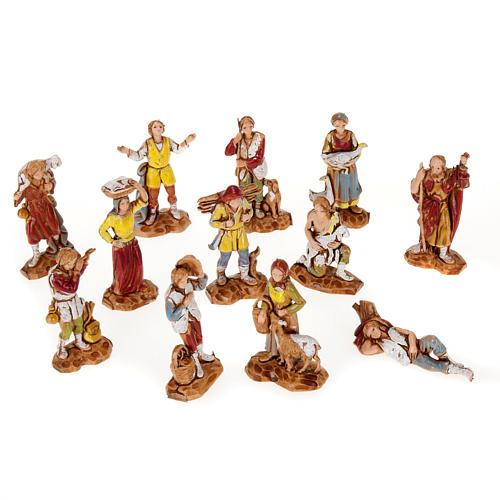 Pastori presepe gruppo 12 soggetti 3.5 cm Moranduzzo 1