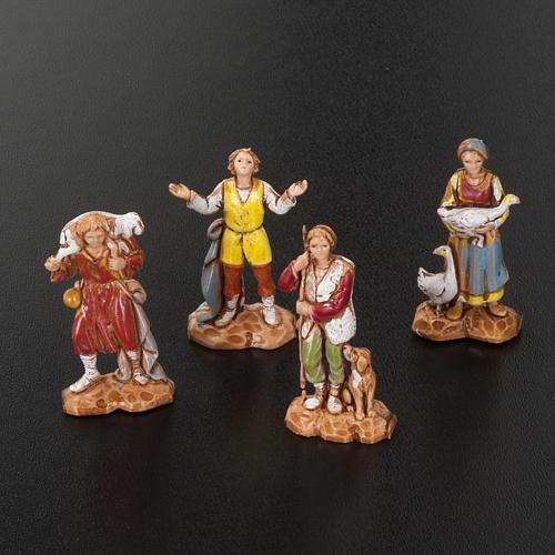 Pastori presepe gruppo 12 soggetti 3.5 cm Moranduzzo 2