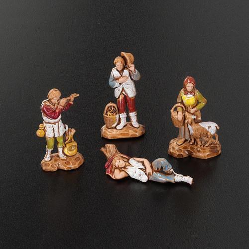 Pastori presepe gruppo 12 soggetti 3.5 cm Moranduzzo 4