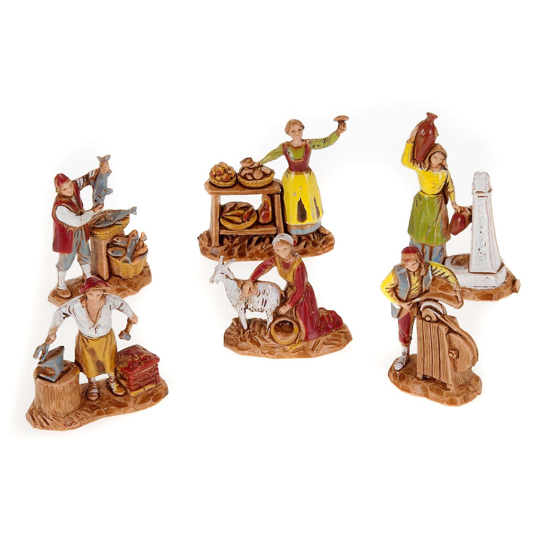 Pastori presepe gruppo 6 pz. Moranduzzo 3 cm 3
