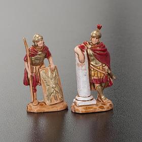 Roi Hérode et soldats romains 4pc crèche Moranduzzo 3.5cm s2