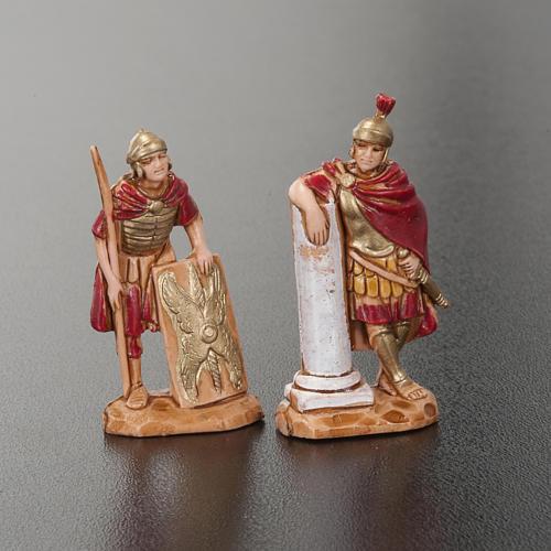 Roi Hérode et soldats romains 4pc crèche Moranduzzo 3.5cm 2