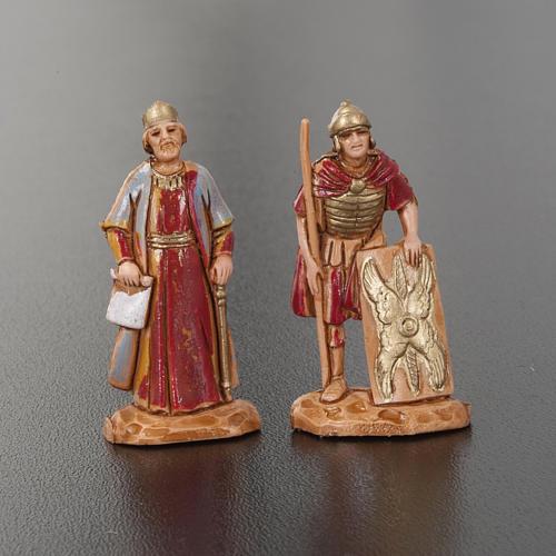 Roi Hérode et soldats romains 4pc crèche Moranduzzo 3.5cm 3