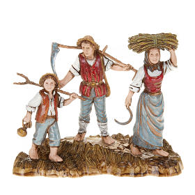 Setting for Moranduzzo nativities, 3 shepherds 10cm s1