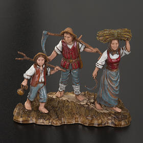 Setting for Moranduzzo nativities, 3 shepherds 10cm s2