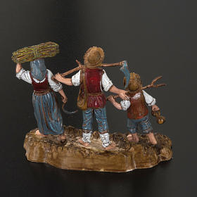 Setting for Moranduzzo nativities, 3 shepherds 10cm s3