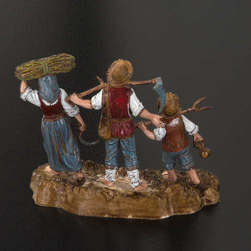 Setting for Moranduzzo nativities, 3 shepherds 10cm 3