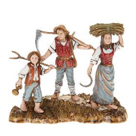 Figuras del Belén: Ambientación belén Moranduzzo 3 pastores 10 cm.