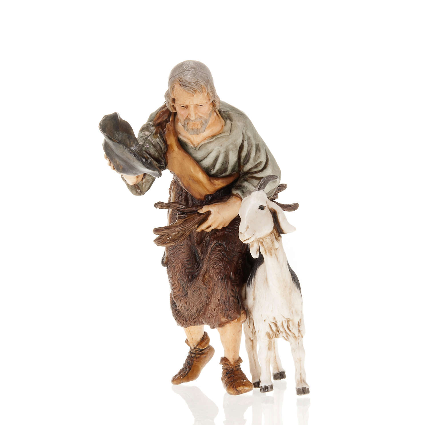 Man with hat and goat 13cm Moranduzzo 3