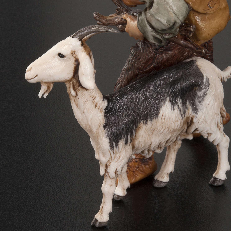 Hombre con cabra y gorra 13 cm. Moranduzzo 3