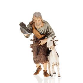 Hombre con cabra y gorra 13 cm. Moranduzzo s1