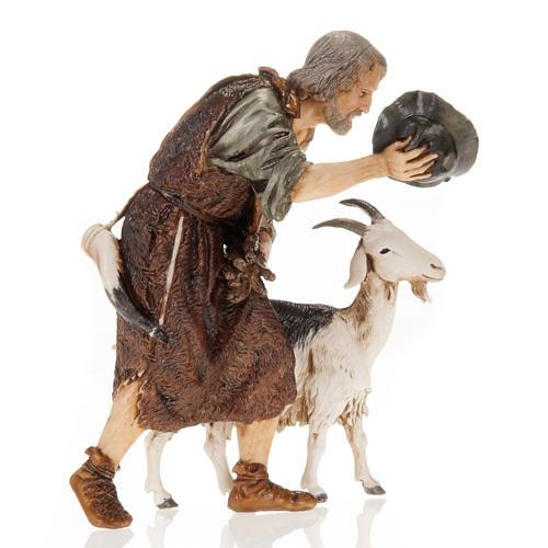 Hombre con cabra y gorra 13 cm. Moranduzzo 2