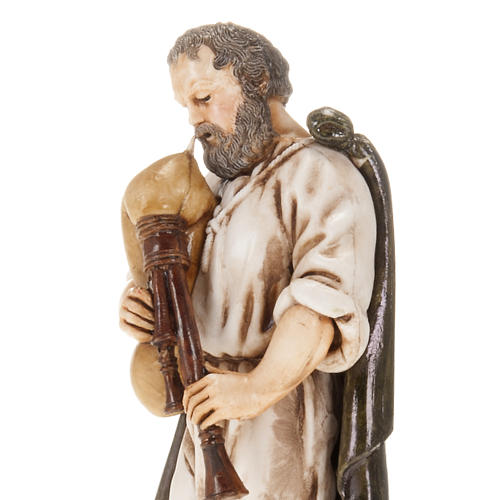 Figurines for Moranduzzo nativities, backpiper with cloak 13cm 2