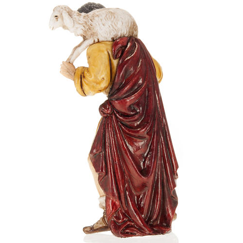 Pastore con agnello in spalla 13 cm Moranduzzo 3