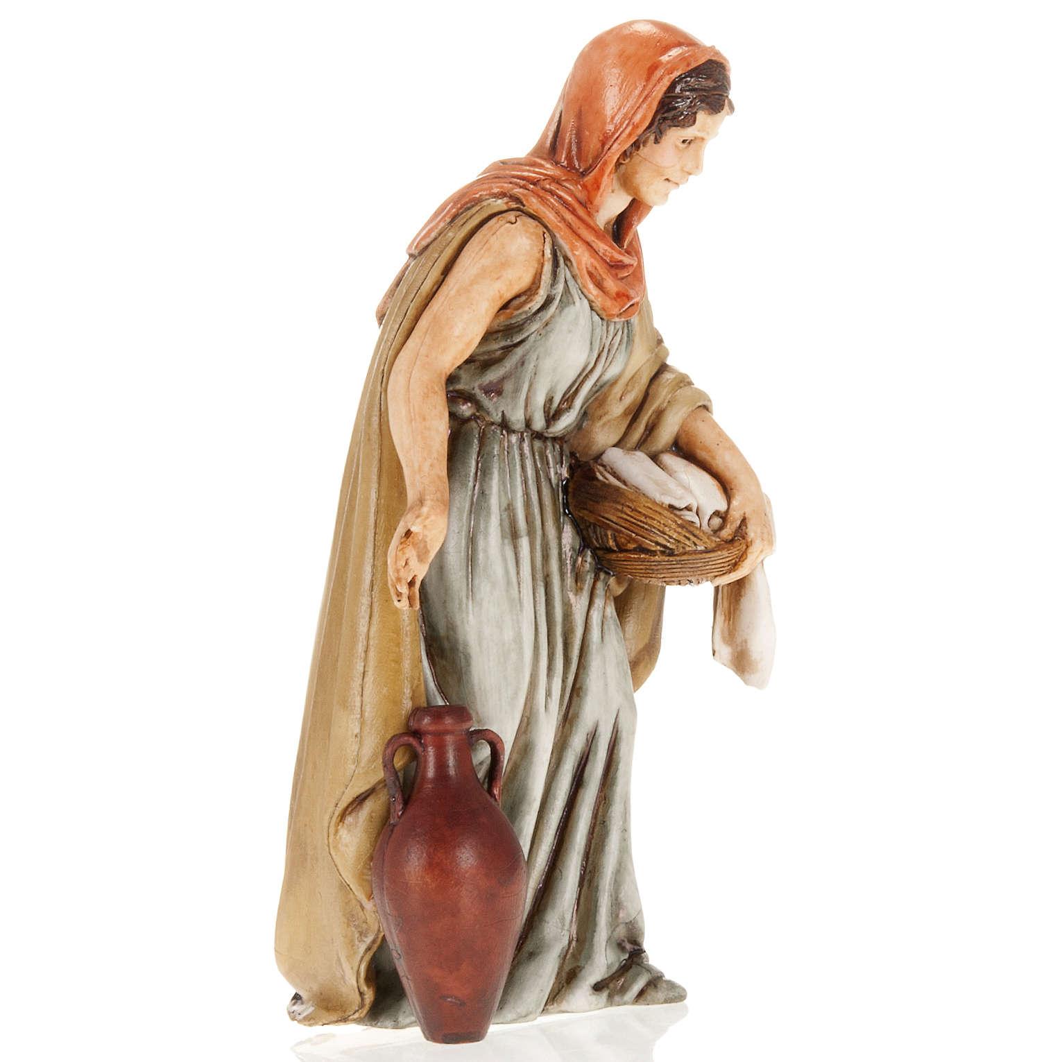 Femme avec linge crèche Moranduzzo 13 cm 3