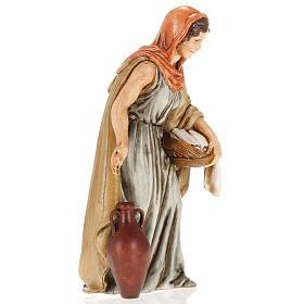 Femme avec linge crèche Moranduzzo 13 cm s3