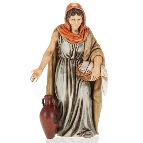 Femme avec linge crèche Moranduzzo 13 cm 1