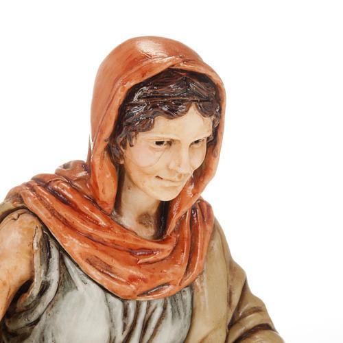 Femme avec linge crèche Moranduzzo 13 cm 2