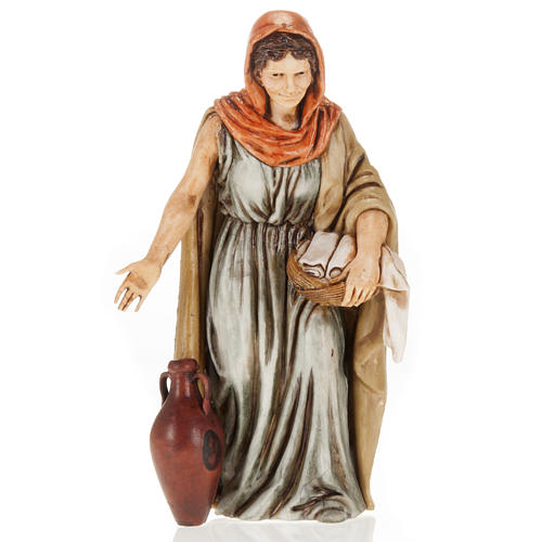 Figurines for Moranduzzo nativities, woman with amphora and clot 1