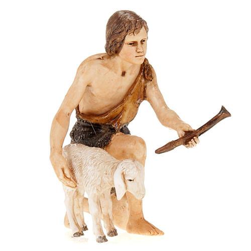 Figurines for Moranduzzo nativities, shepherd with fife and shee 1